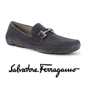 Salvatore Ferragamo Parigi Suede Leather Driving